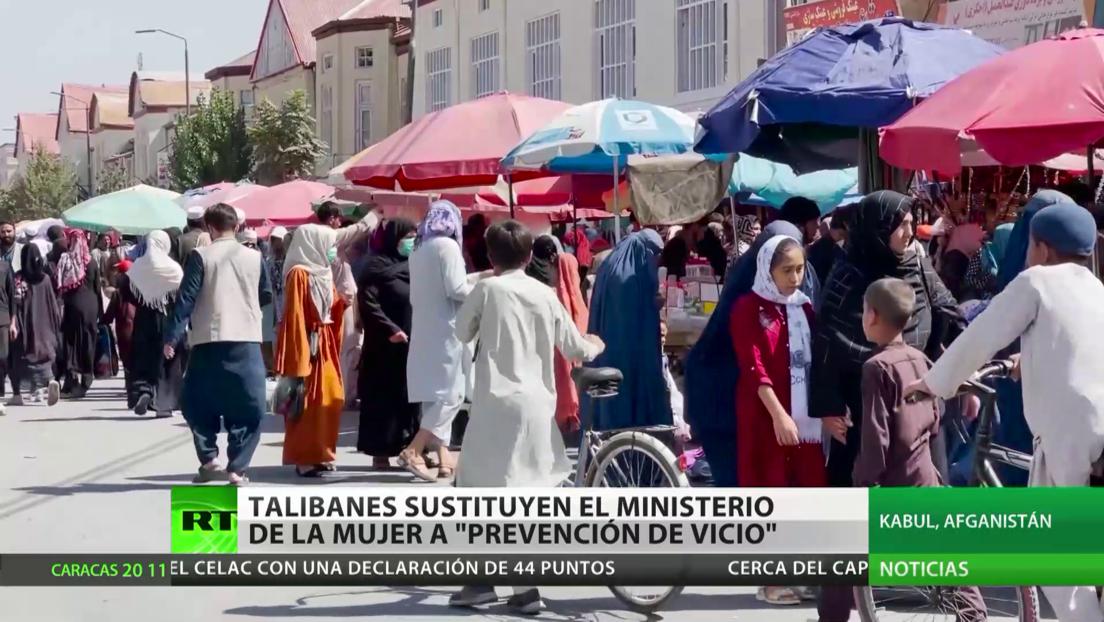 """Talibanes sustituyen el Ministerio de la Mujer por """"Prevención del Vicio"""""""