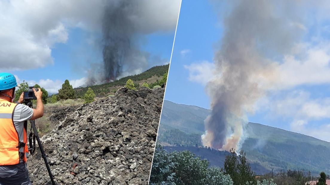 VIDEOS, FOTOS: Entra en erupción un volcán en la isla española de La Palma  - RT