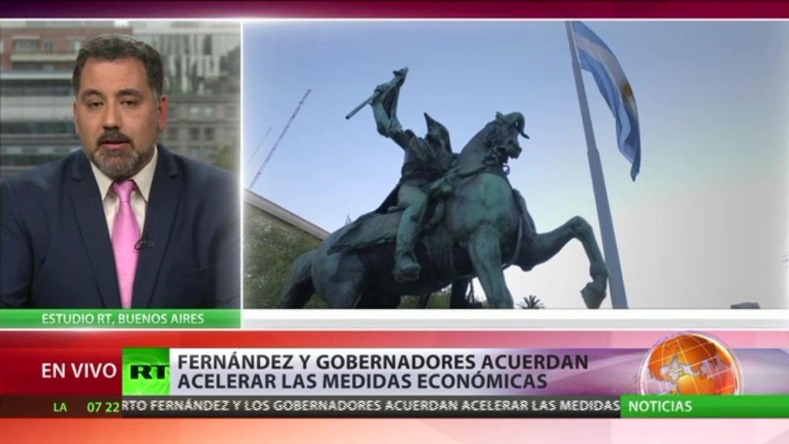 Fernández y gobernadores de Argentina acuerdan acelerar las medidas económicas