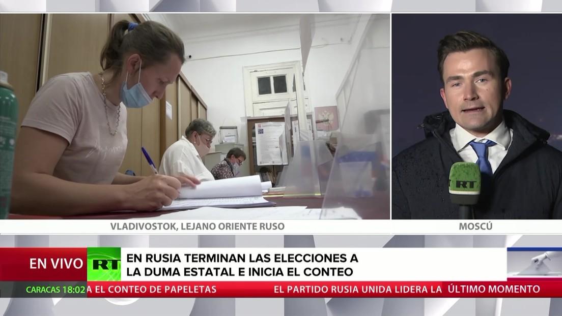 Rusia: Terminan las elecciones a la Duma Estatal e inicia el conteo
