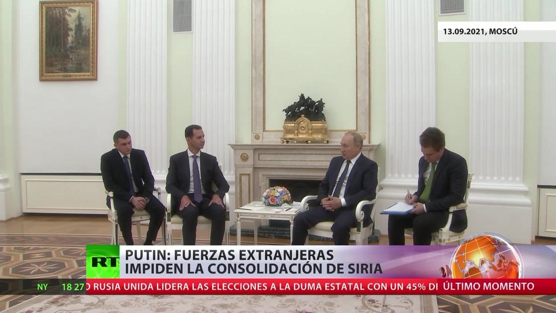 Los presidentes de Rusia y Siria abordaron el terrorismo y la cooperación