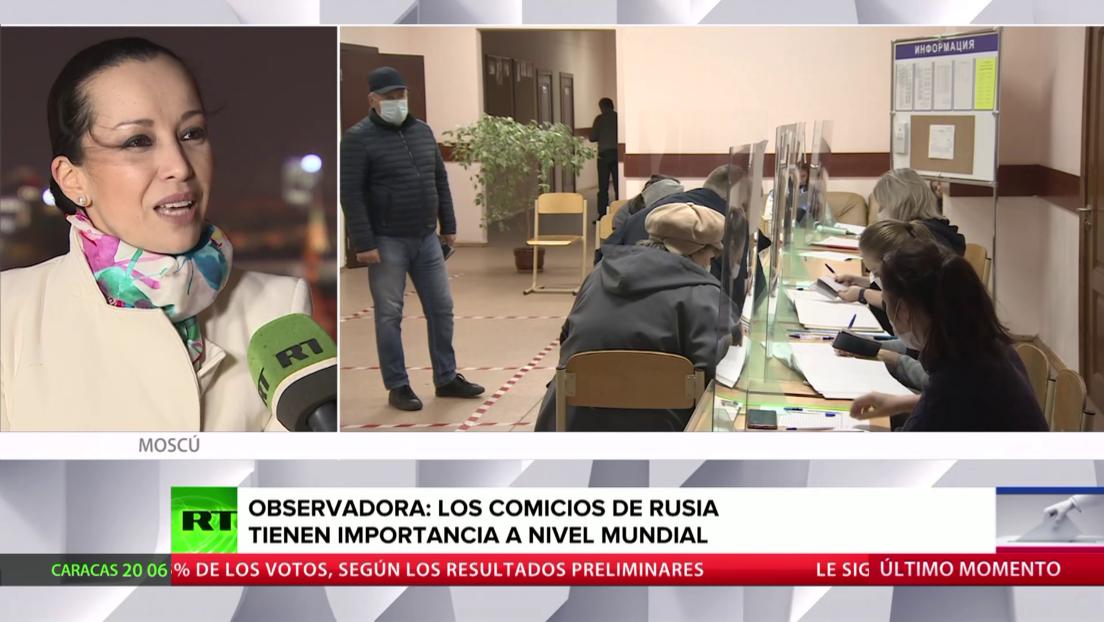 Observadora internacional: Las elecciones legislativas de Rusia tienen una importancia a nivel mundial