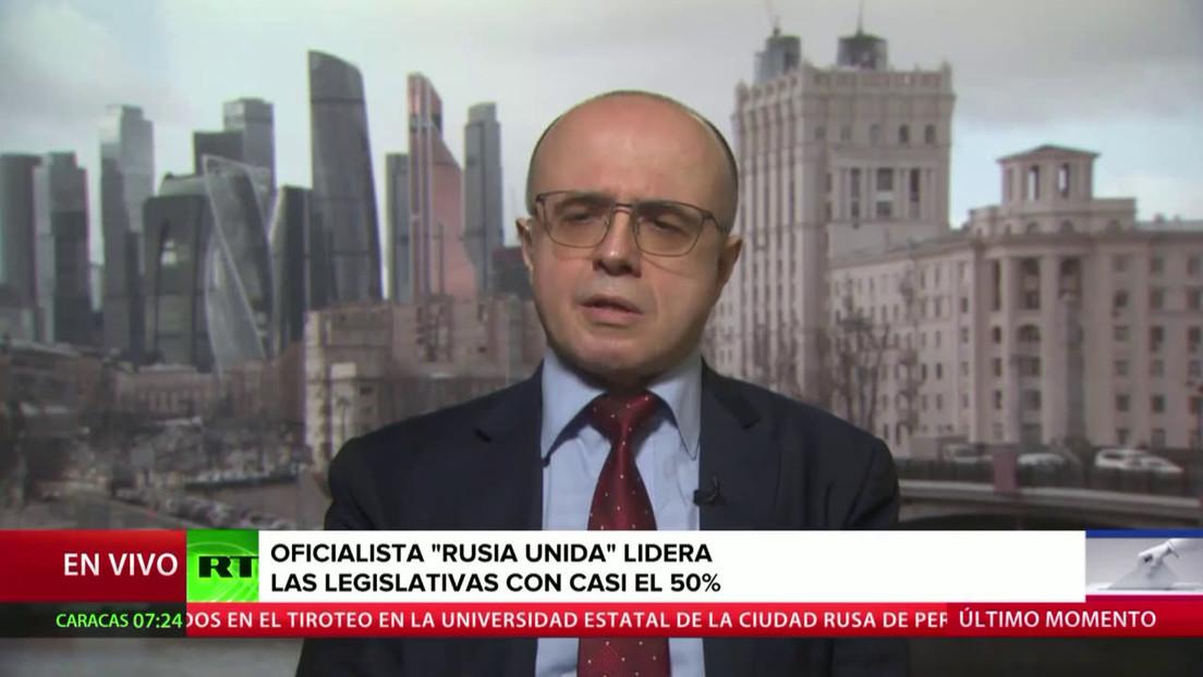 """Experto afirma que las elecciones parlamentarias rusas se desarrollaron con """"absoluta normalidad"""""""