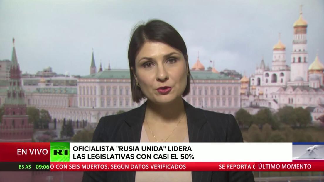 La oficialista 'Rusia Unida' lidera en las legislativas con casi el 50 % de los votos