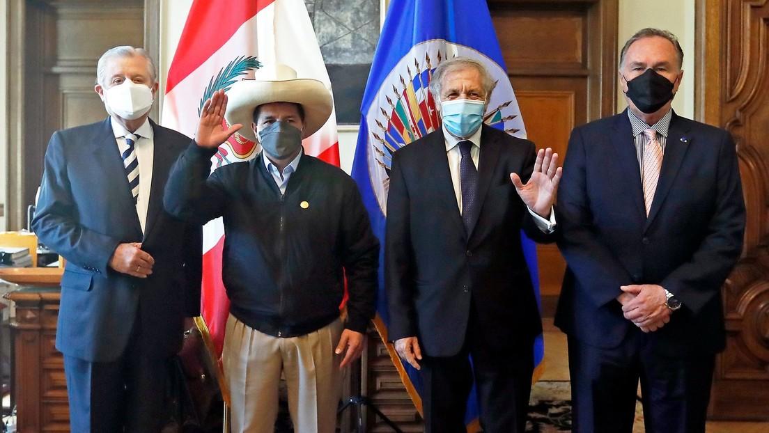 """Pedro Castillo ante la OEA: """"En el Perú tenemos corruptos hasta para exportar"""""""