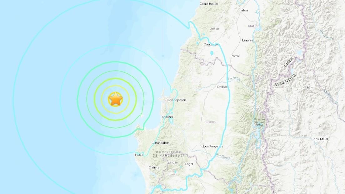 Fuerte sismo de magnitud 6,6 se registra en la región chilena del Biobío