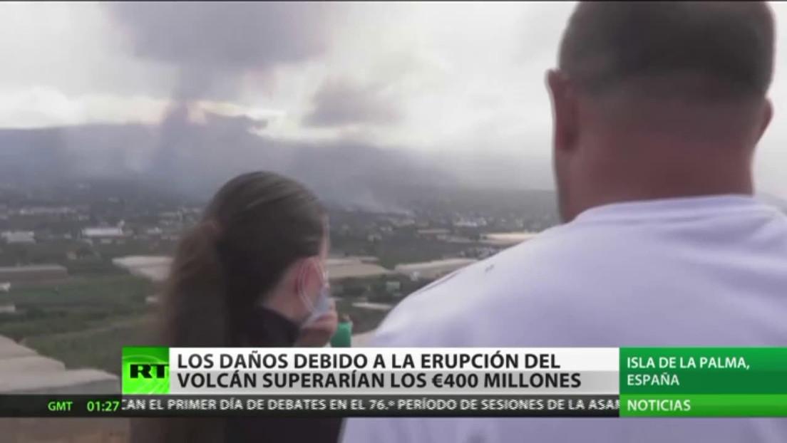 Daños provocados por la erupción del volcán en la isla española La Palma podrían superar los 460 millones de dólares