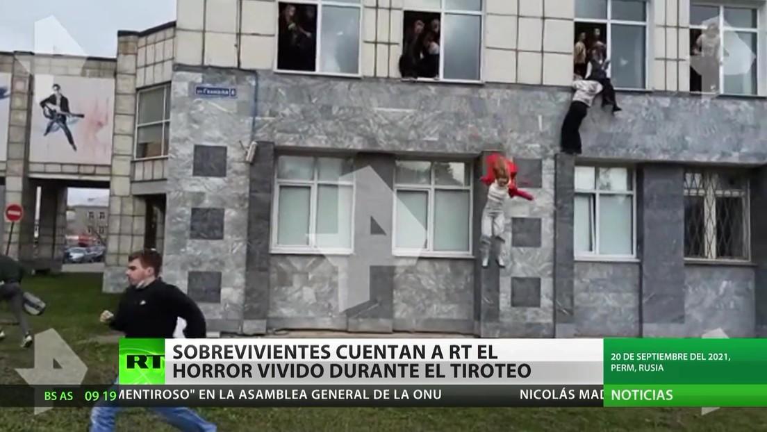 Sobrevivientes del tiroteo en la región rusa de Perm cuentan a RT cómo sucedió
