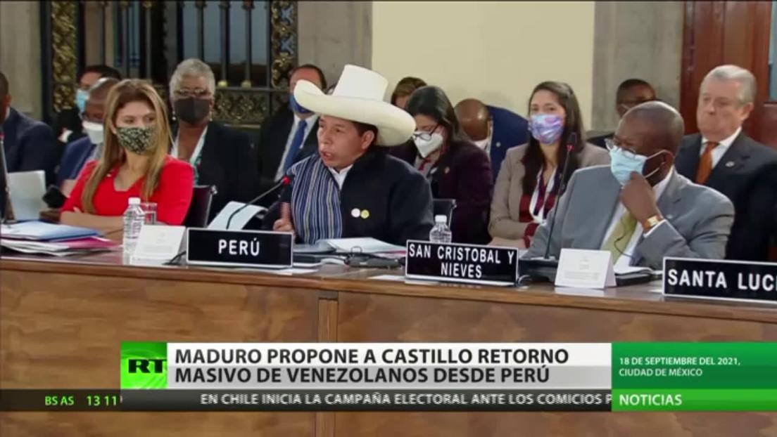 Maduro propone a Castillo retorno masivo de venezolanos desde Perú