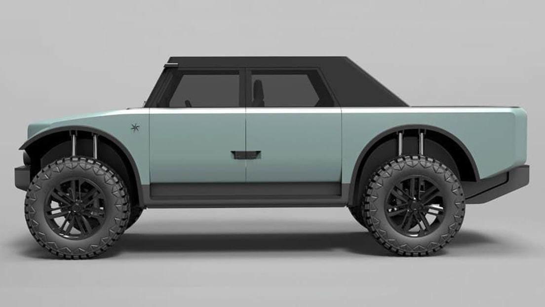 Presentan una camioneta híbrida con carrocería de tela y autonomía de 7.000 kilómetros (FOTOS)