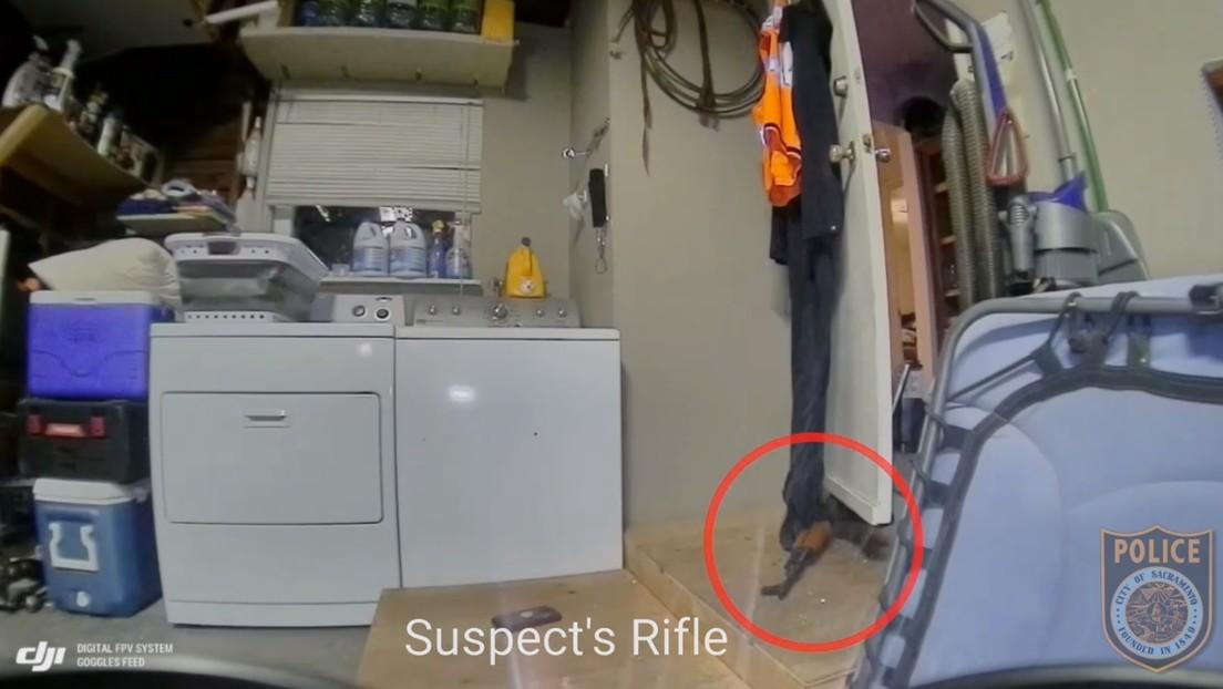 VIDEO: Policías de EE.UU. usan un dron para escudriñar la vivienda de un agresor armado tras un intercambio letal de disparos