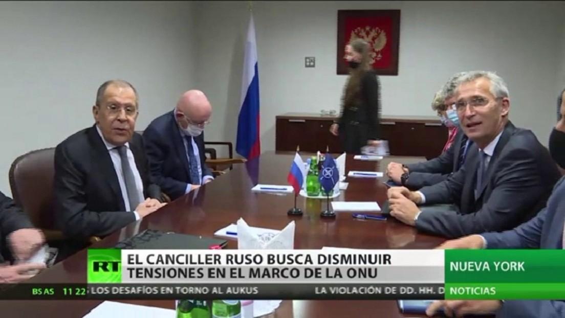 Lavrov se reúne con el secretario general de la OTAN en el marco de la Asamblea General de la ONU