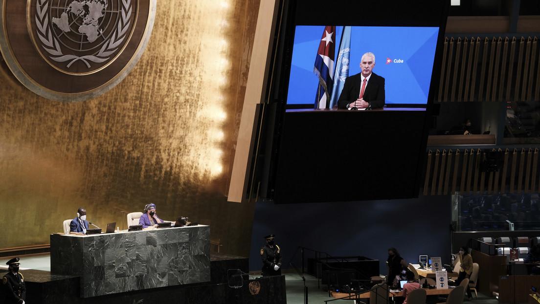 """Díaz-Canel denuncia ante la ONU que EE.UU. ha lanzado """"una guerra no convencional"""" contra Cuba con """"campañas de manipulación y mentiras"""""""