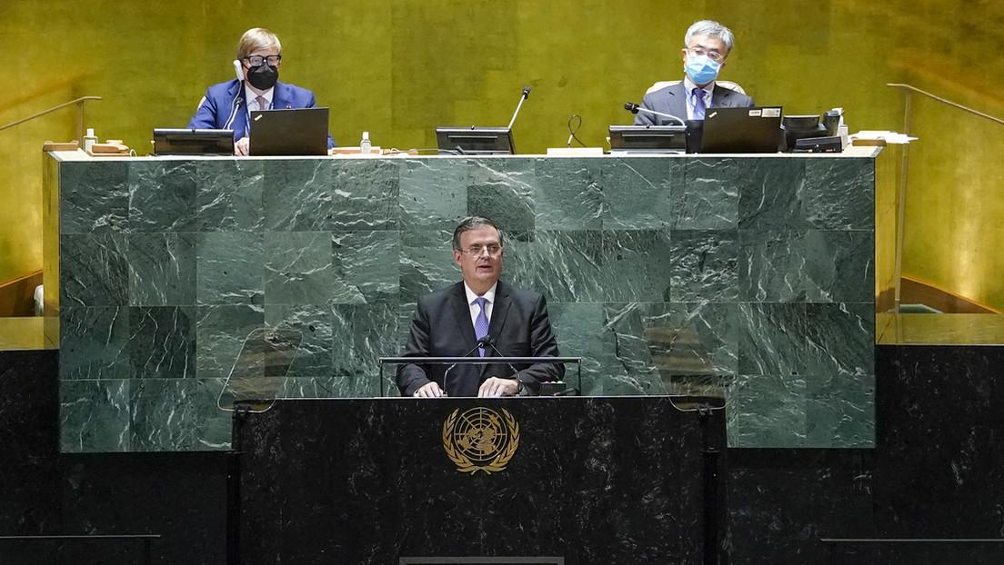"""""""Resulta impostergable poner fin al bloqueo económico contra Cuba"""": El canciller de México pide ante la ONU terminar con las """"medidas unilaterales"""""""