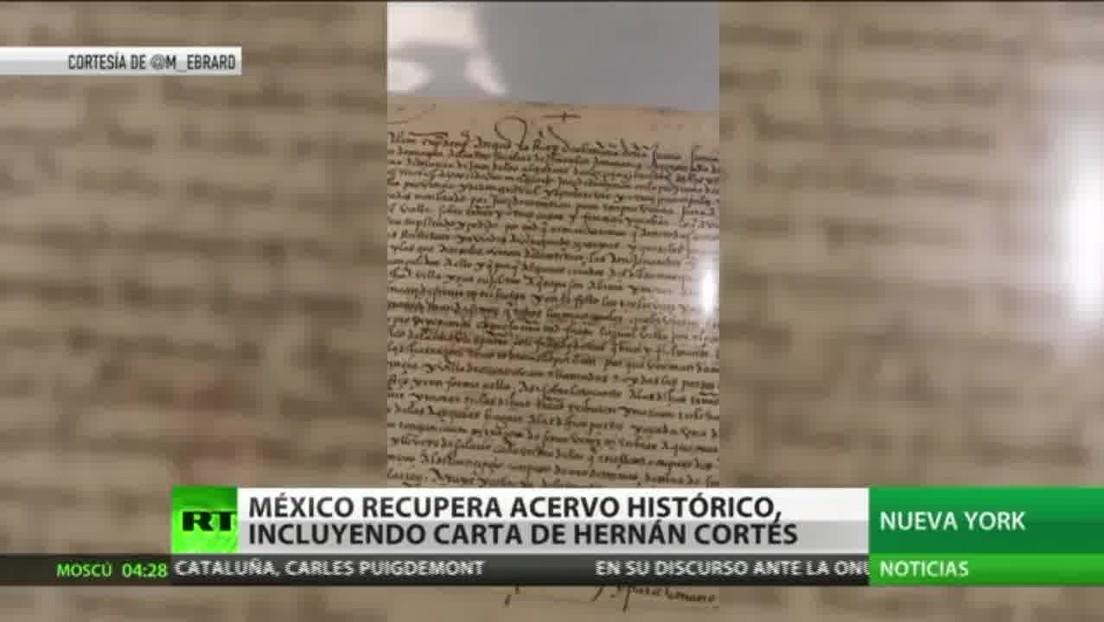 México celebra la recuperación de importantes elementos de su patrimonio histórico