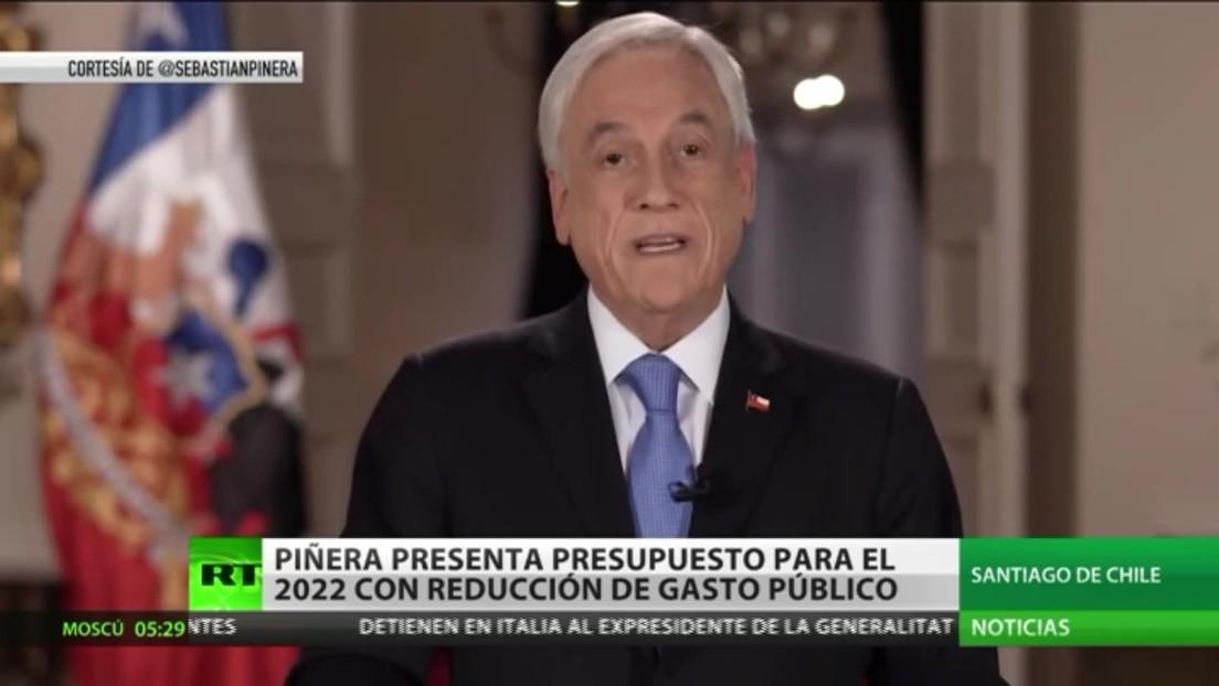 Sebastián Piñera presenta la Ley de Presupuesto de Chile para el año 2022