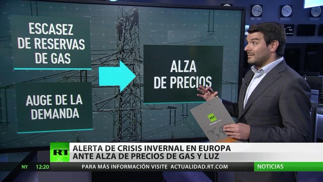 Alerta de crisis invernal en Europa ante el alza de los precios del gas y la luz