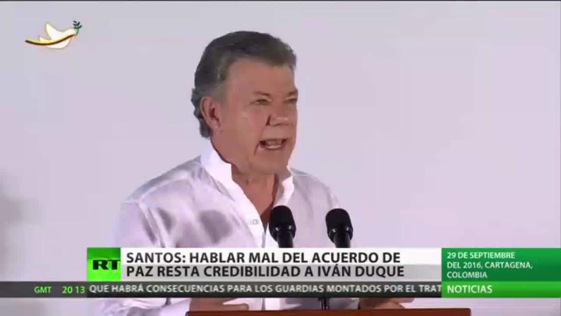 Santos: Hablar mal del Acuerdo de Paz en Colombia le resta credibilidad a Iván Duque