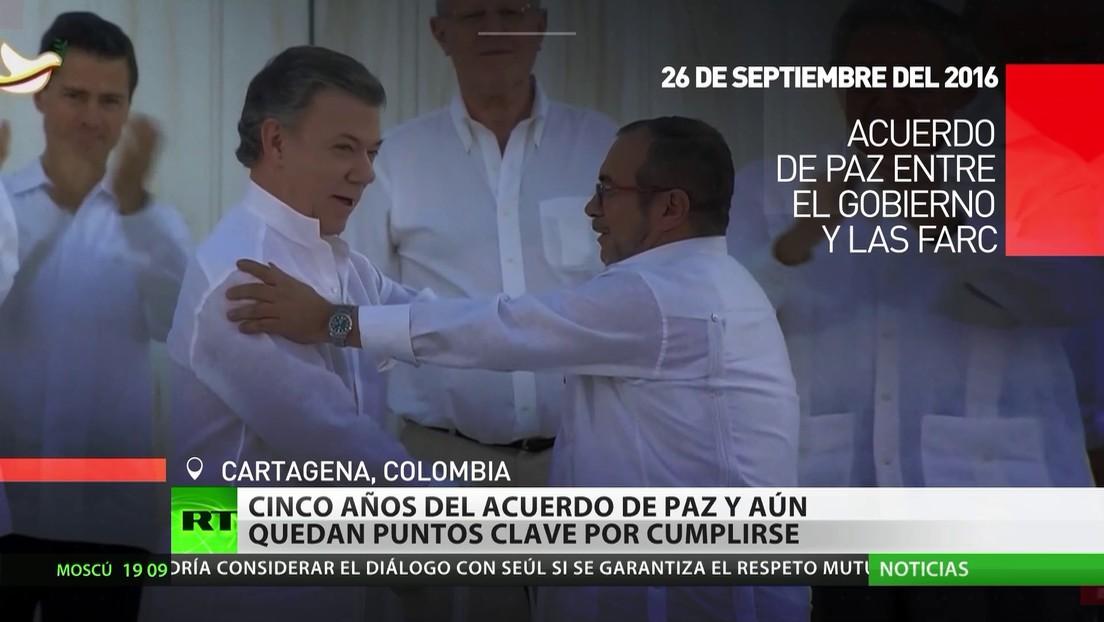 Cinco años del Acuerdo de Paz en Colombia y aún quedan puntos clave por cumplirse