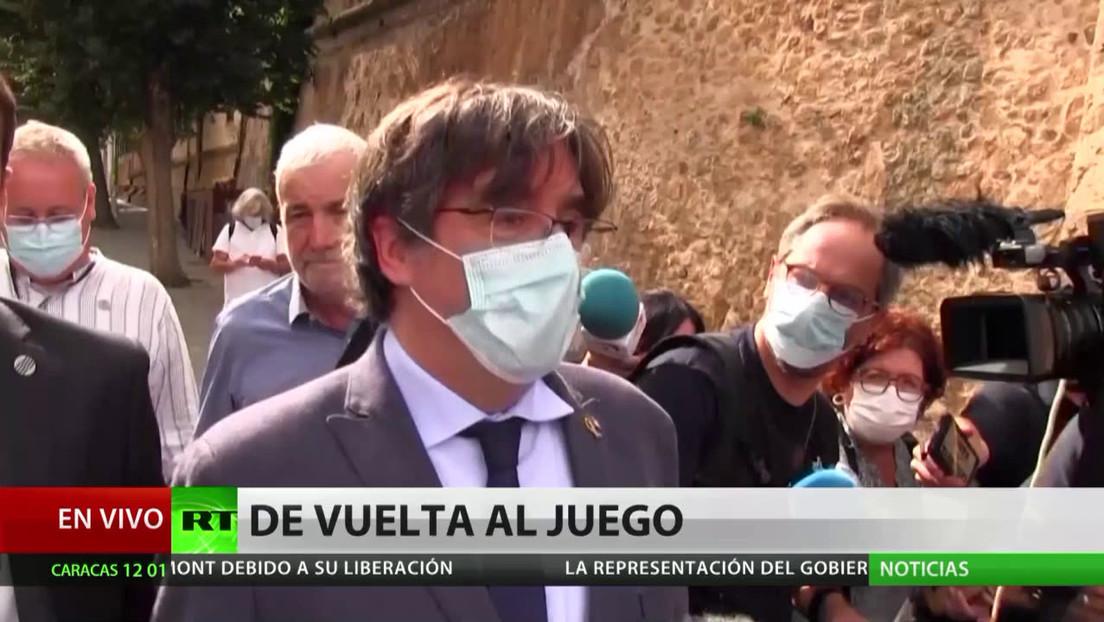 Puigdemont hace aparición pública tras su liberación y en España se multiplican reacciones