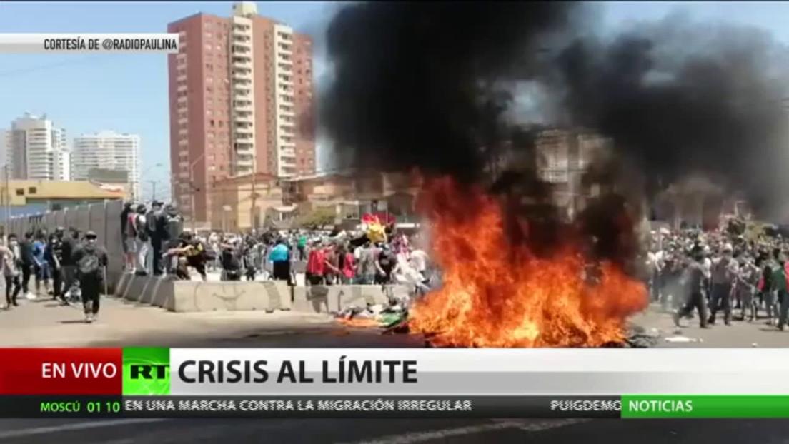 En Chile las protestas masivas contra migrantes derivan en incidentes violentos