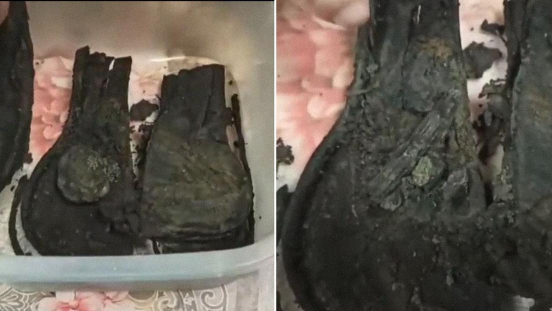 Descubren en Rusia una vela y fragmentos de tejido en una bolsa de cuero en sorprendente estado de conservación tras estar enterrada 500 años
