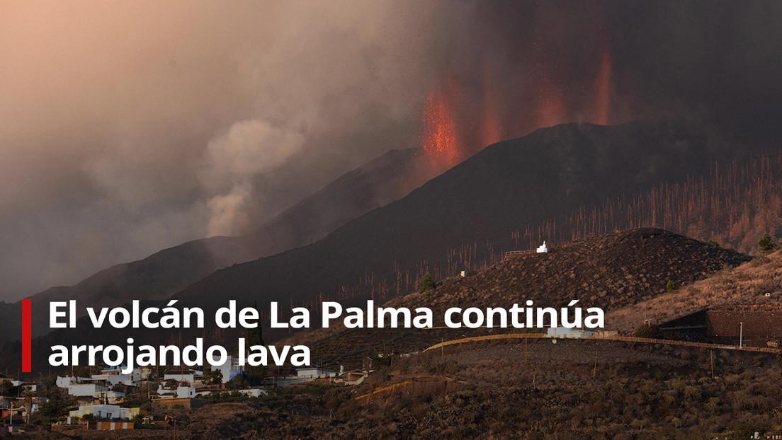EN VIVO: Expulsión de lava del volcán de La Palma siete días después del inicio de la erupción