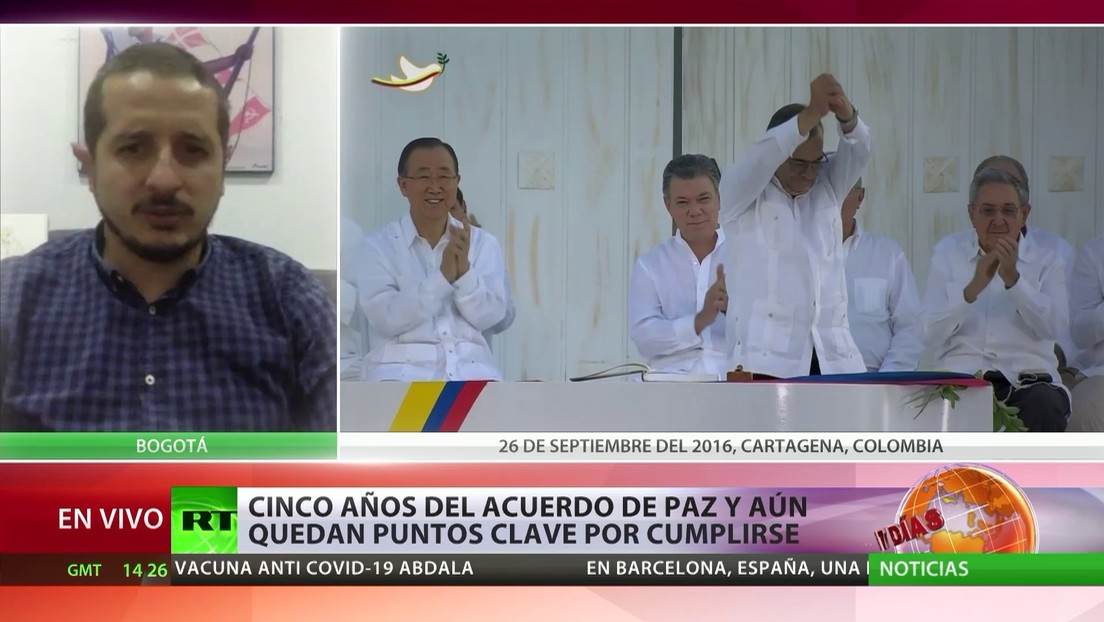 """Activista sobre los cinco años del Acuerdo de Paz en Colombia: """"Se necesita voluntad política porque no hemos tenido un cumplimiento del Estado"""""""