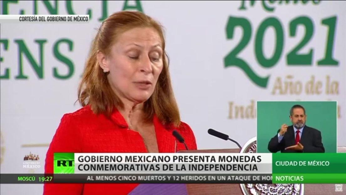 El Gobierno mexicano presenta monedas conmemorativas de la Independencia