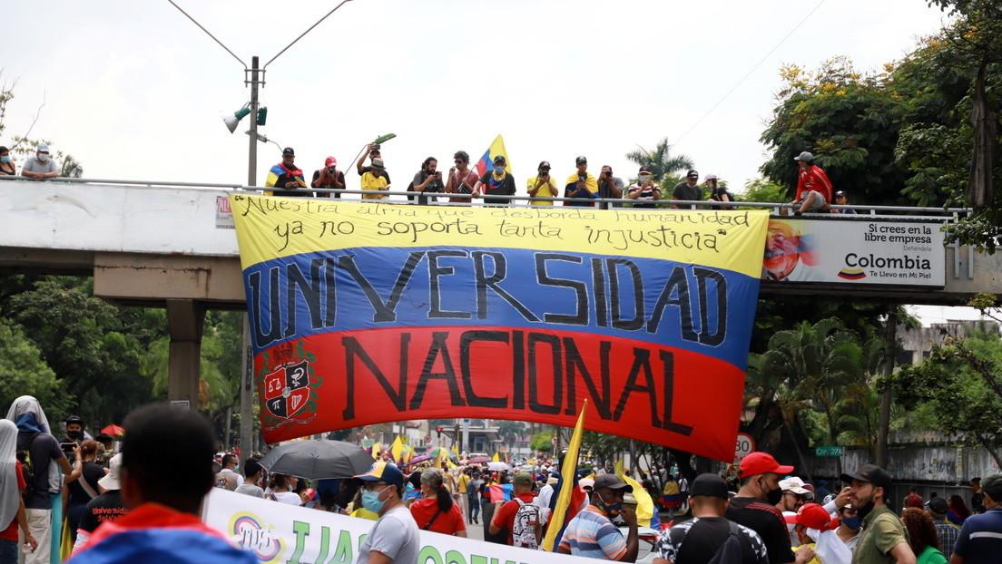 Colombianos se movilizan en contra de la reforma tributaria de Duque en una nueva jornada de protestas