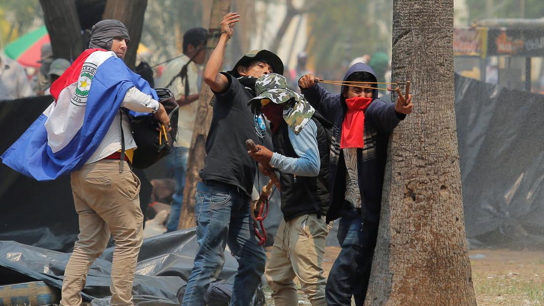 Protestan en Paraguay contra un polémico proyecto de ley que castiga hasta con 10 años de cárcel la ocupación de tierras