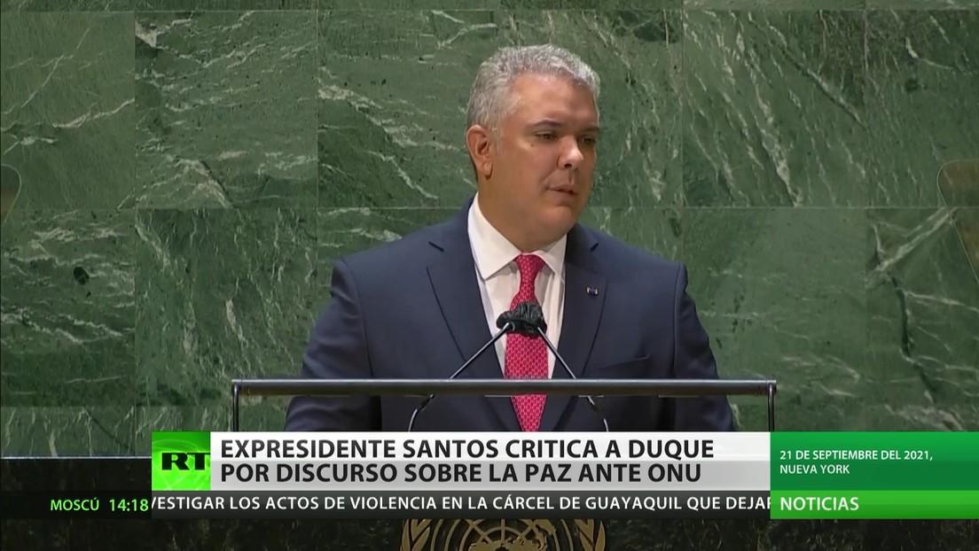 Colombia: Juan Manuel Santos critica a Duque por su discurso sobre la paz ante la ONU