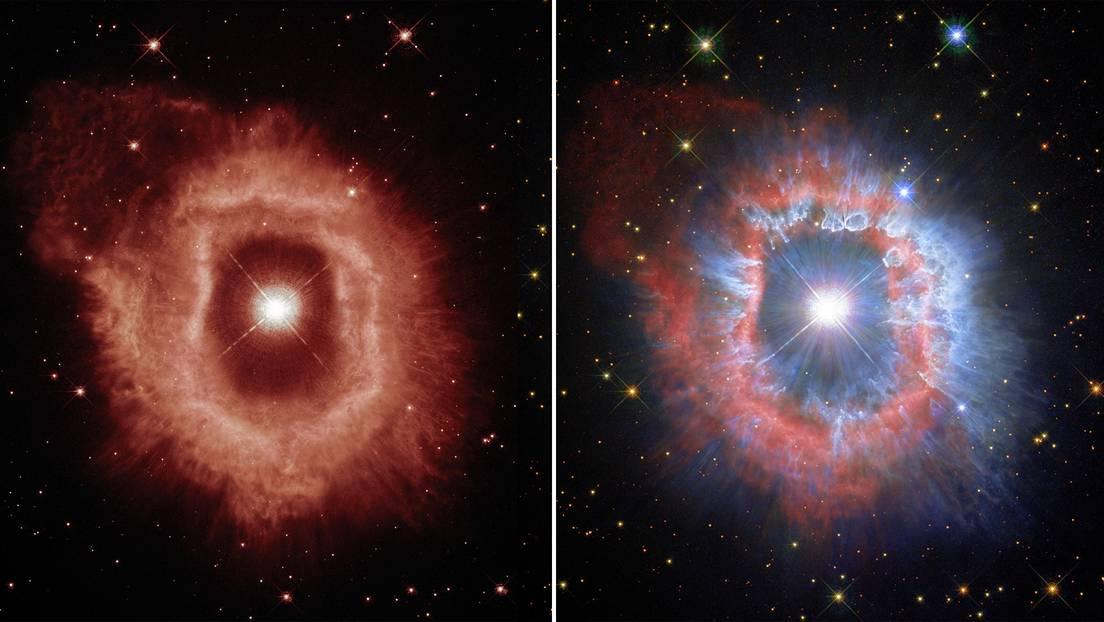 Diferentes aspectos de la nebulosa de gas y polvo que rodea a la estrella AG Carinae.