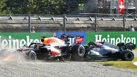 VIDEO: Hamilton y Verstappen colisionan durante el Gran Premio de Italia de Fórmula 1