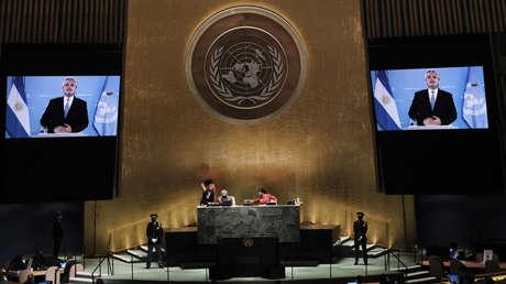 """Alberto Fernández denuncia ante la ONU el """"deudicidio"""" de Argentina por el """"endeudamiento tóxico"""" con el FMI"""