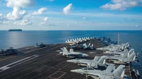 VIDEO: EE.UU. envía una poderosa agrupación naval encabezada por un portaviones al mar de la China Meridional