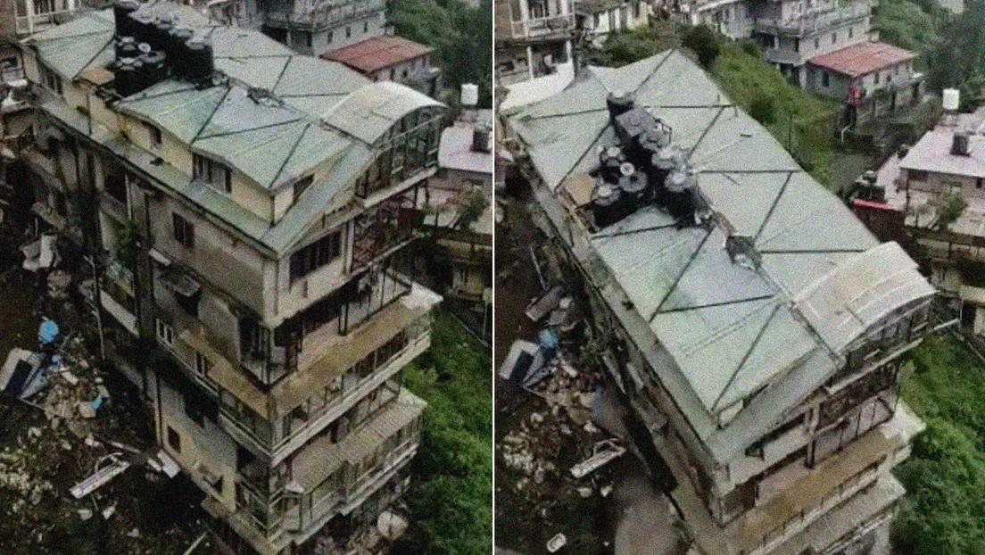 VIDEOS: Colapsa como un castillo de naipes un edificio residencial de ocho pisos en la India