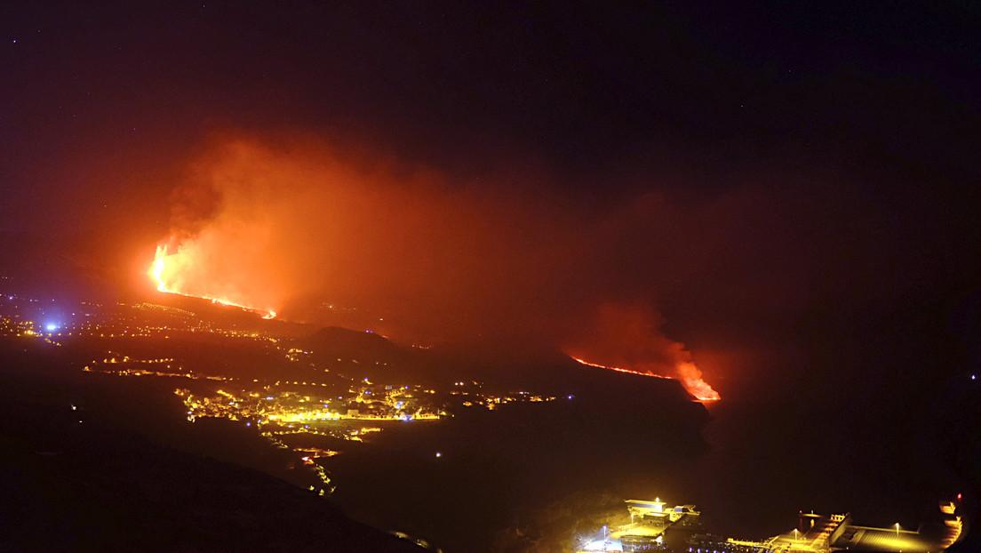 Se abre una nueva boca eruptiva en el volcán de La Palma que genera dos nuevas coladas