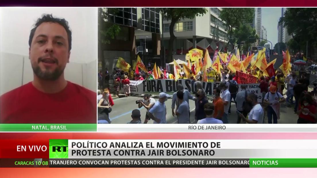 En Brasil y el extranjero se realizan nuevas protestas en apoyo a la destitución de Bolsonaro