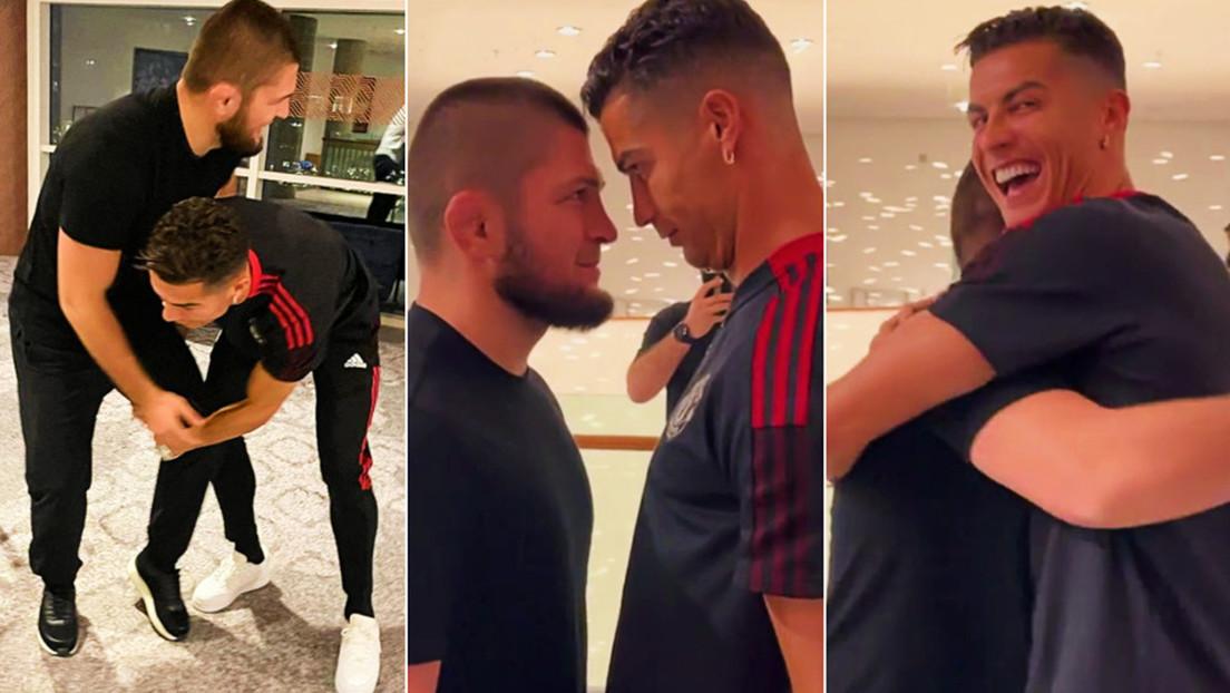 VIDEO: Khabib Nurmagomédov y Cristiano Ronaldo protagonizan un divertido careo al estilo de la UFC