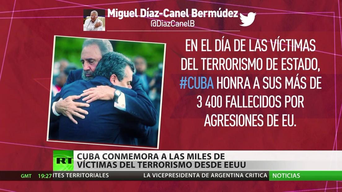 Cuba homenajea a las miles de víctimas del terrorismo por agresiones de EE.UU.
