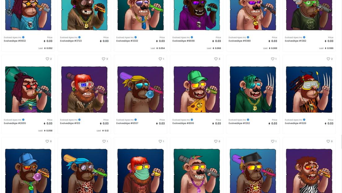 Creador de una colección de NFT con simios, que había prometido premios en Ethereum, desaparece con 2,7 millones de dólares de los inversores