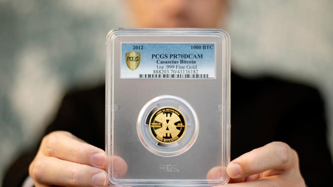 Una moneda física de 1.000 bitcoines fue comprada por menos de 5.000 dólares y ahora es el objeto numismático más valioso del mundo
