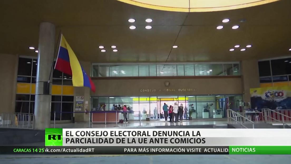 El Consejo Nacional Electoral venezolano denuncia la parcialidad de la UE ante los comicios