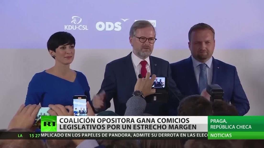 La coalición opositora gana los comicios legislativos por un estrecho margen en República Checa