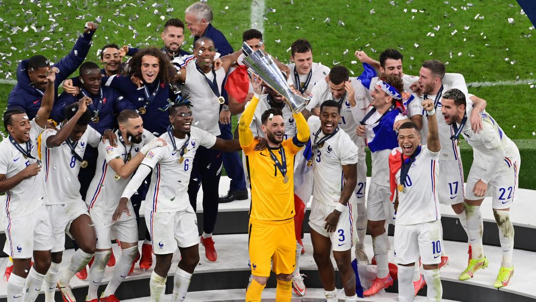 Francia consigue el título de la Liga de Naciones de la UEFA tras imponerse  a España por 2-1 - RT