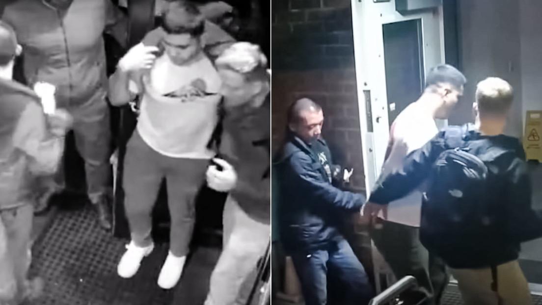 Tres marines funcionarios de la Embajada de EE.UU. en Moscú borrachos roban una mochila en un bar de la capital rusa