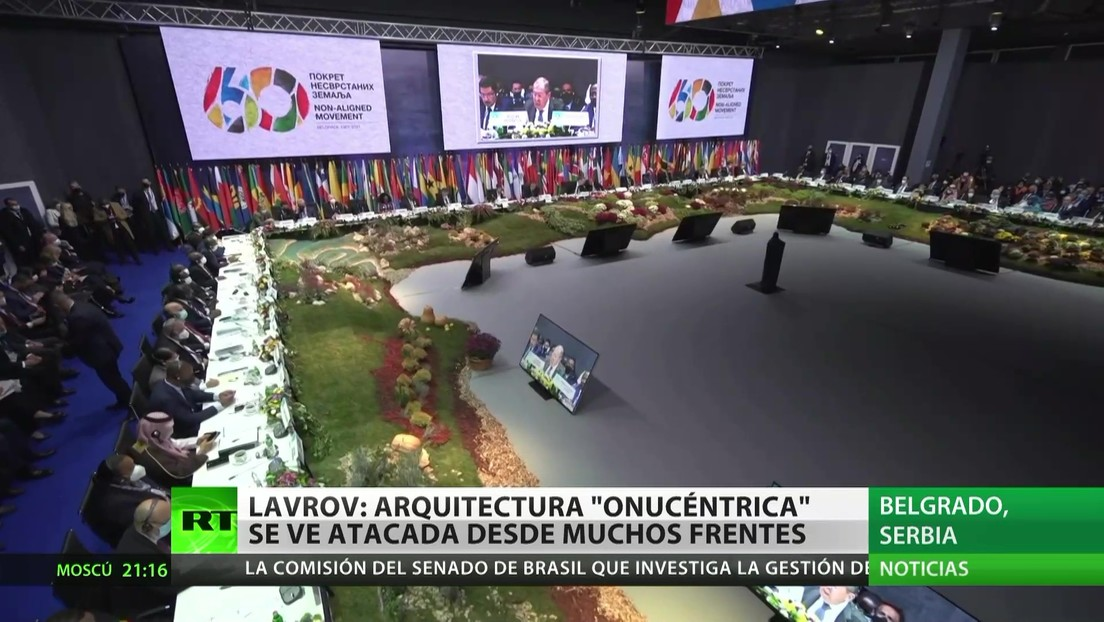 "Lavrov: La arquitectura ""onucéntrica"" se ve atacada desde muchos frentes"