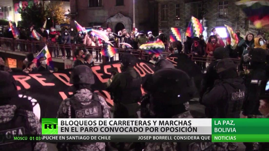 Bolivia: Bloqueos de carreteras y marchas en el paro convocado por la oposición