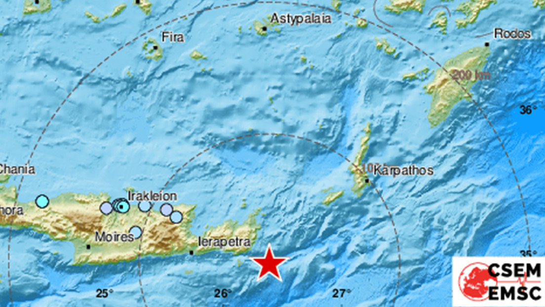 Se registra un sismo de magnitud 6,3 cerca de la isla griega de Creta